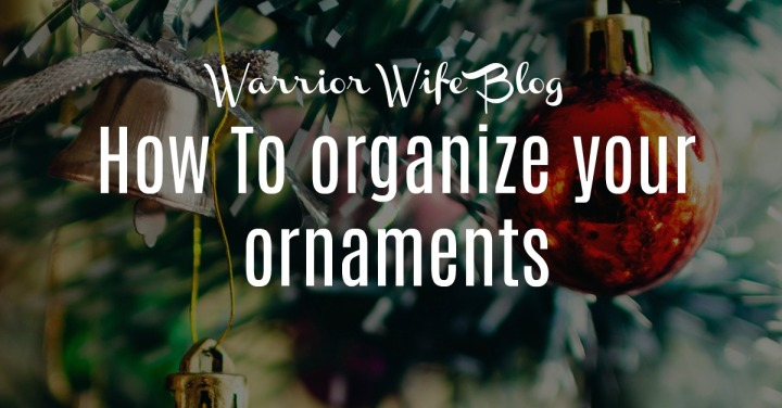 How to organize your Christmas Ornaments
